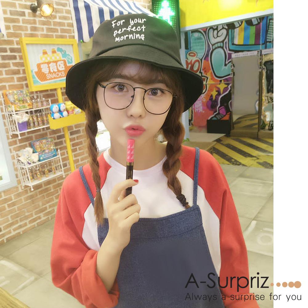 A-Surpriz 韓風英文字母漁夫帽(黑)