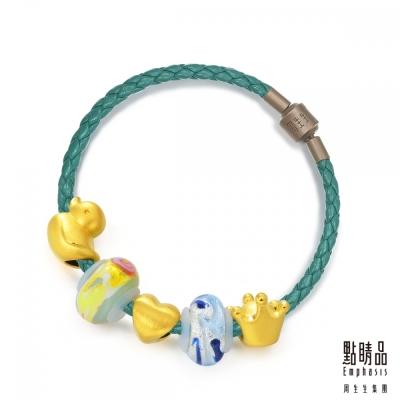 點睛品 Charme Murano Glass「親愛的」黃金彩色琉璃串珠手鍊