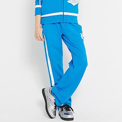 【TOP GIRL】 吸濕排汗休閒針織長褲-中藍