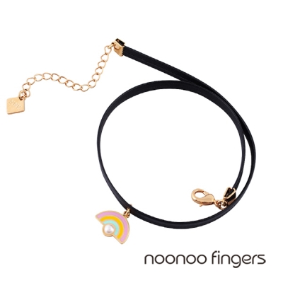Noonoo Fingers Noobow Noo彩虹頸鍊