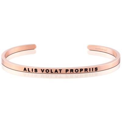 MANTRABAND ALIS VOLAT PROPRIIS 振翅飛翔 玫瑰金手環拉丁文版