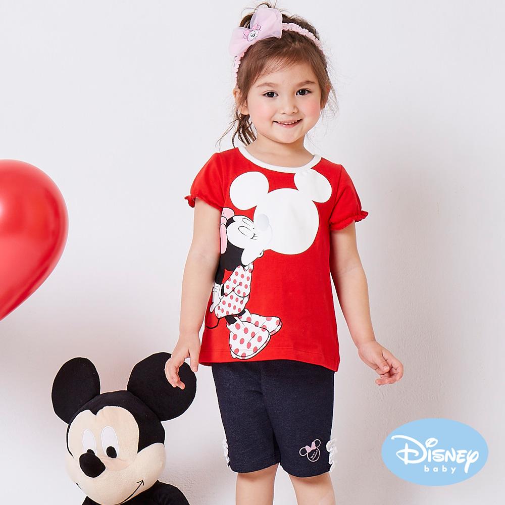 Disney baby 甜柔蕾絲米妮短褲  深藍