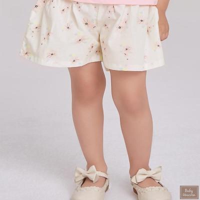 Baby unicorn 米白粉花短褲