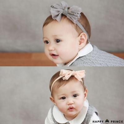 韓國 Happy Prince 素色蕾絲布料星星蝴蝶結髮帶