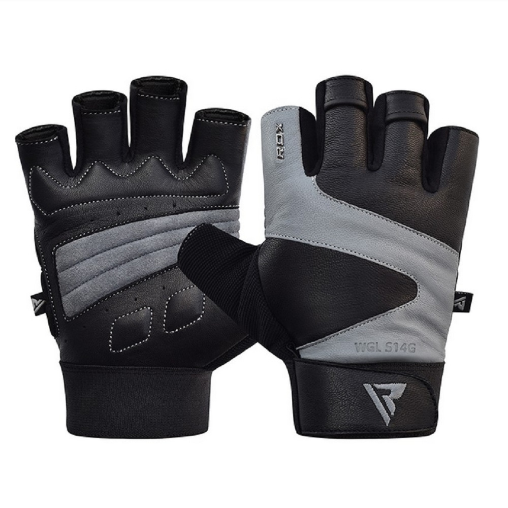 【RDX】RDX皮革健身手套(灰)
