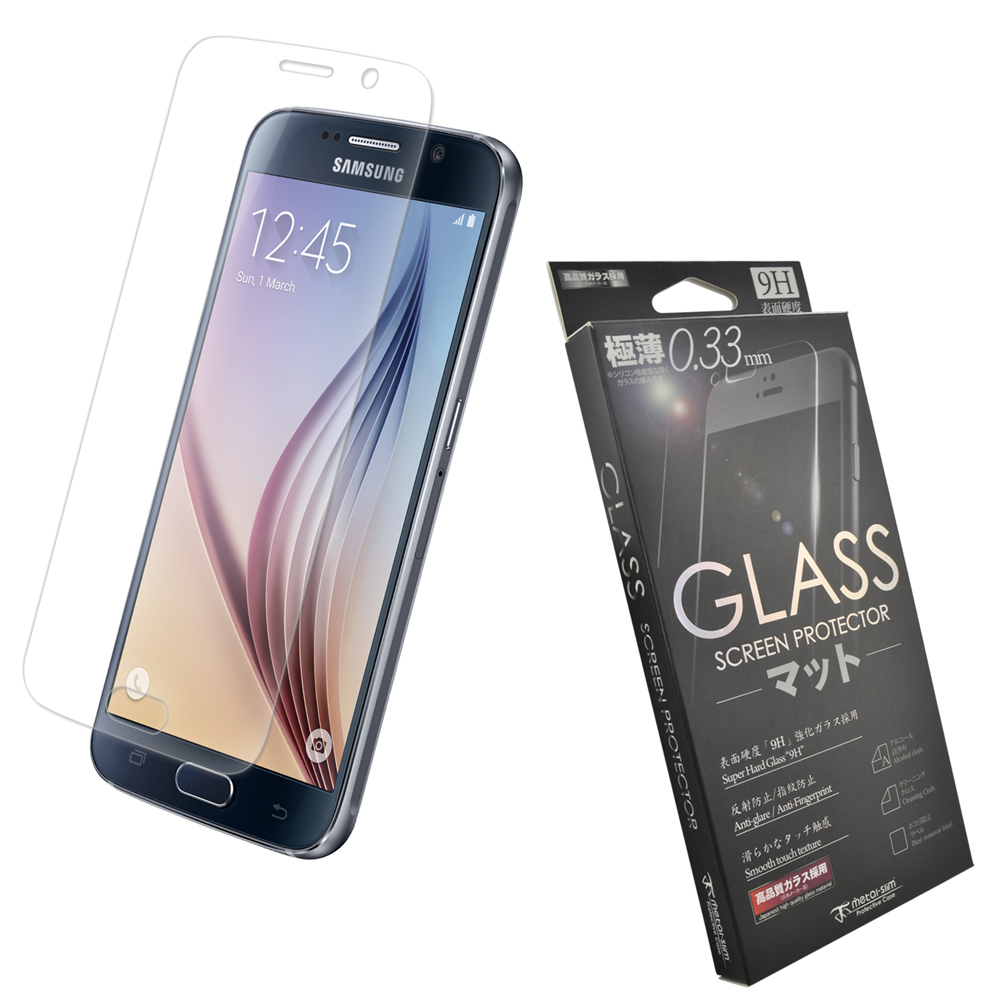 Metal-Slim Samsung Galaxy S6 9H弧邊耐磨防指紋鋼化玻璃保護貼