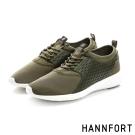 HANNFORT ICE超級凍感運動休閒鞋-男-軍裝綠