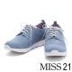 休閒鞋 MISS 21 細緻簡約純色綁帶厚底休閒鞋-藍 product thumbnail 1