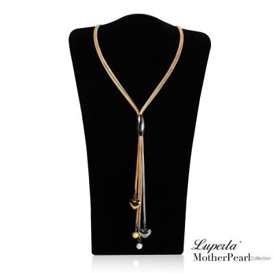 大東山珠寶 南洋貝寶珠金屬活動式長版項鍊