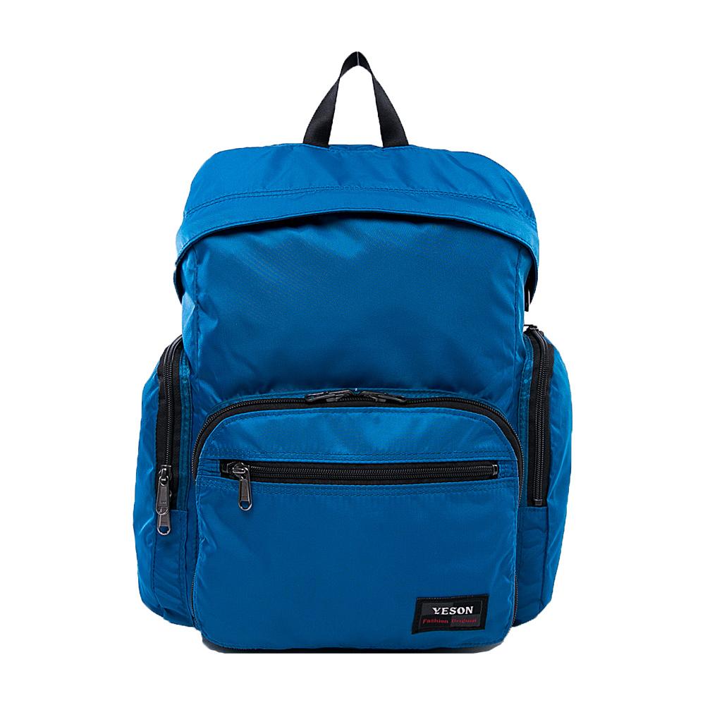 YESON - 商旅輕遊可摺疊式大容量後背包-藍色