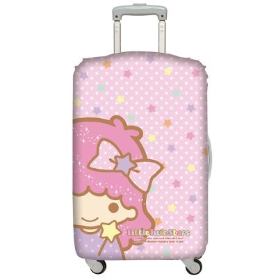 LOQI行李箱套 雙星仙子 臉譜L號 適用28吋以上行李箱