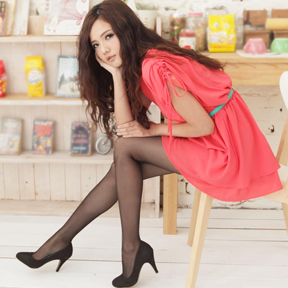 I-shi  韓國心機美人透膚褲襪10雙組(透膚黑)