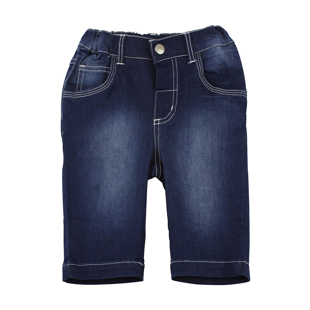 愛的世界 pappa&ciccia 兔耳車線口袋刷白牛仔七分褲/2~4歲