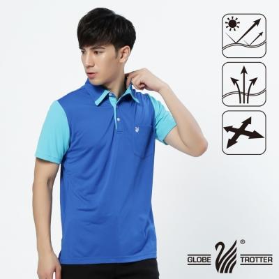 【遊遍天下】男款抗UV吸濕排汗機能POLO衫GS10014寶藍