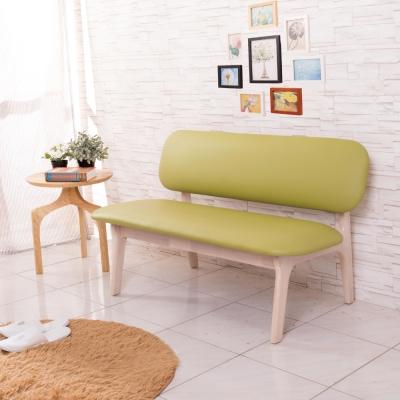 沙發 雙人 北歐風寶妮綠色休閒沙發 AS