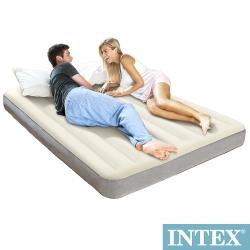 INTEX 新型氣柱-雙人植絨充氣床墊-寬152cm (64709)