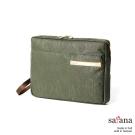 satana - 城市風尚手拿包 - 墨綠色