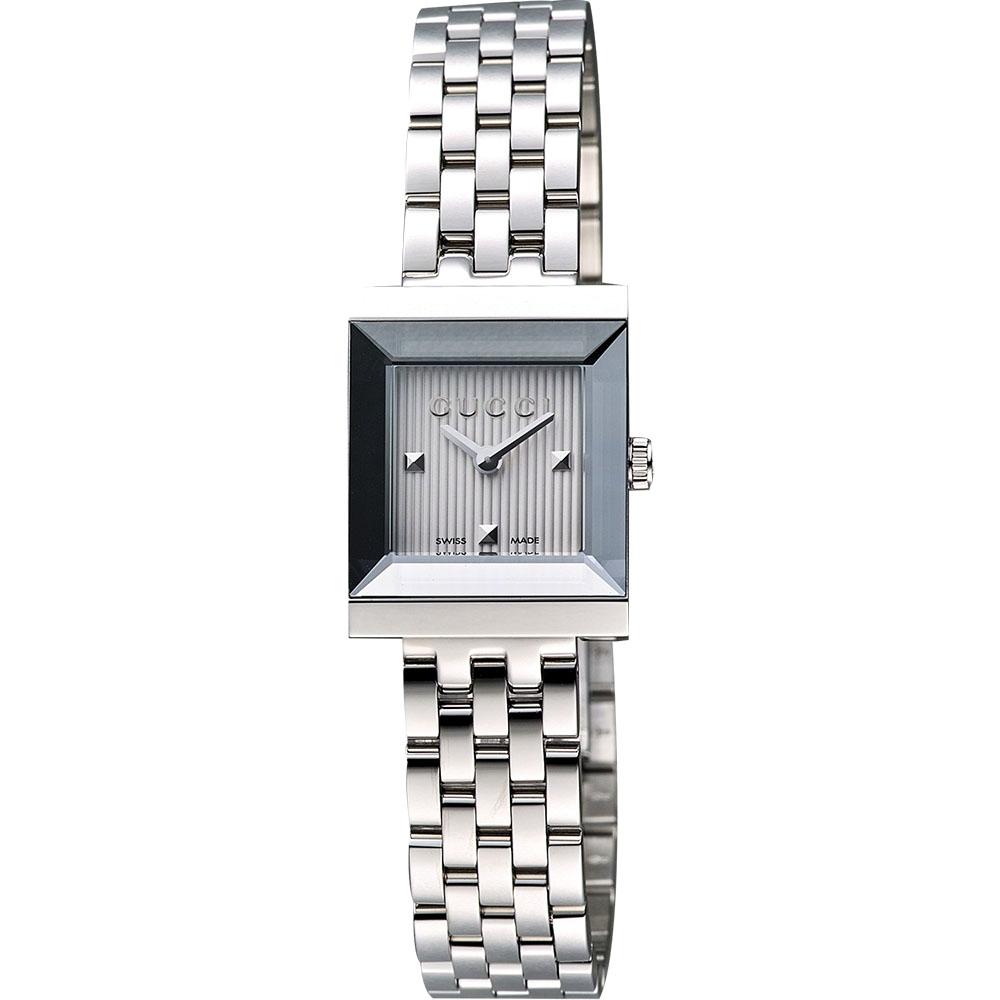 GUCCI G-Frame 系列小錶徑女仕腕錶-銀/19mm