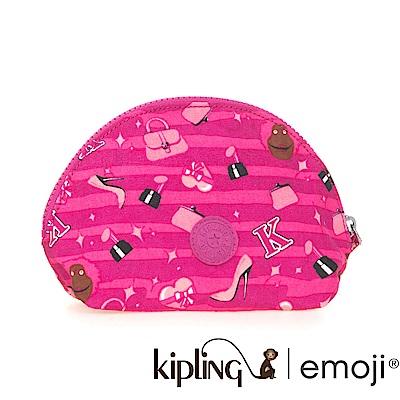 Kipling 零錢包 Emoji 系列 桃紅色-中
