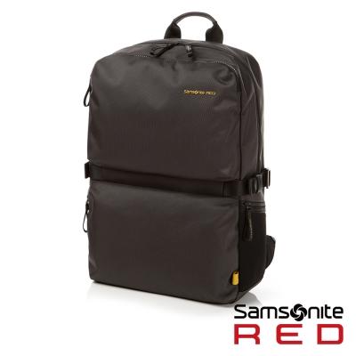 Samsonite RED CLOVEL 造型潮流中性休閒筆電後背包-L17吋(深灰)
