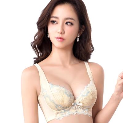 思薇爾 柔挺美學系列B-D罩蕾絲包覆塑身背心型內衣(茴香黃)
