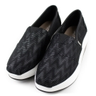 XCESS 女增高鞋 GW045BLK 立體波紋黑