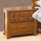 AT HOME-編織柚木床頭櫃