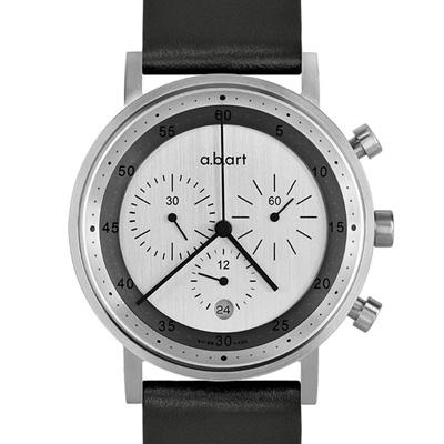 a.b.art OC 多層次圓軌極簡三眼計時碼錶-銀灰/40.5mm