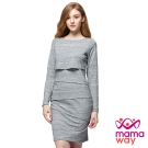 mamaway媽媽餵 合身修飾孕哺洋裝(共2色)