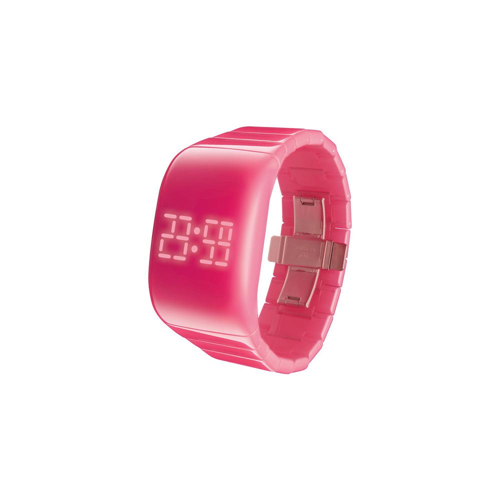 O.D.M. 指尖滑桿解鎖錶-螢光粉紅/34mm
