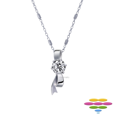 彩糖鑽工坊 19分 蝴蝶結鑽石項鍊 限量活動品