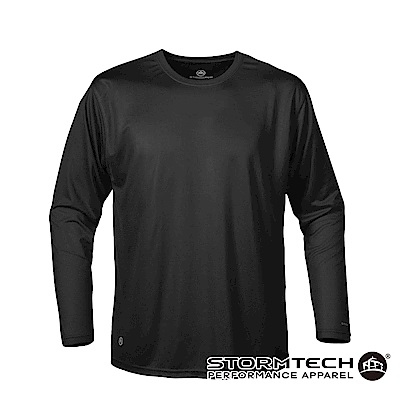 【加拿大STORMTECH】SAT020超吸排運動長上衣-黑