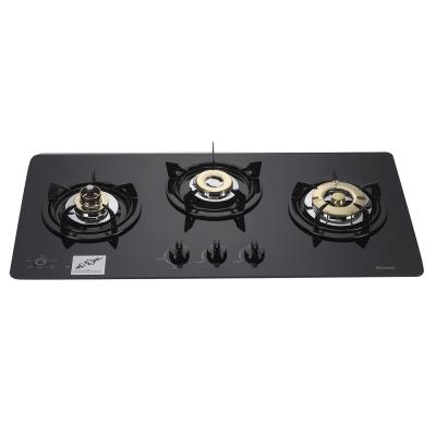 林內牌 RB-3GMB 美食家多功能強化玻璃檯面式三口瓦斯爐