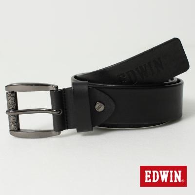EDWIN-LOGO滾輪皮帶-男-黑色