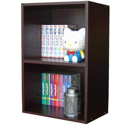 巧菲司二格間隙收納櫃/書櫃-深胡桃木色