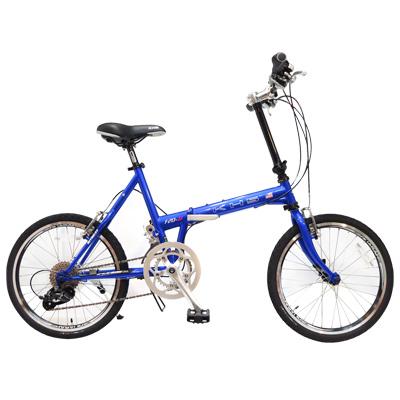 KHS功學社 F20-JJ 20吋16速50-34T鉻鉬鋼折疊單車 藍