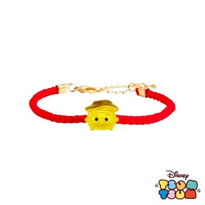Disney迪士尼TSUM TSUM系列金飾 黃金編織手鍊-胡迪款