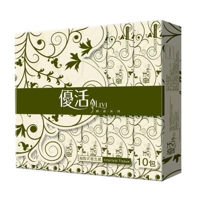 Livi 優活 抽取式衛生紙100抽10包10袋 x2箱