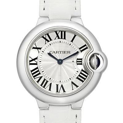 CARTIER 卡地亞 Ballon Bleu 經典羅馬時標石英腕錶-白/36mm