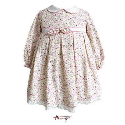 Annys花園精靈系粉嫩碎花金飾洋裝*5283粉