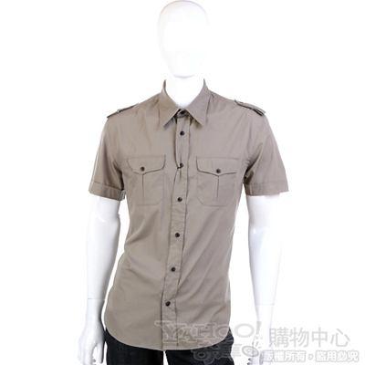 VALENTINO-軍綠色短袖襯衫