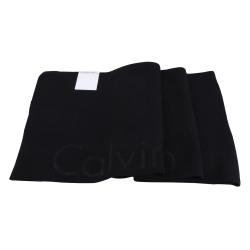 Calvin Klein 素面LOGO圍巾(黑)