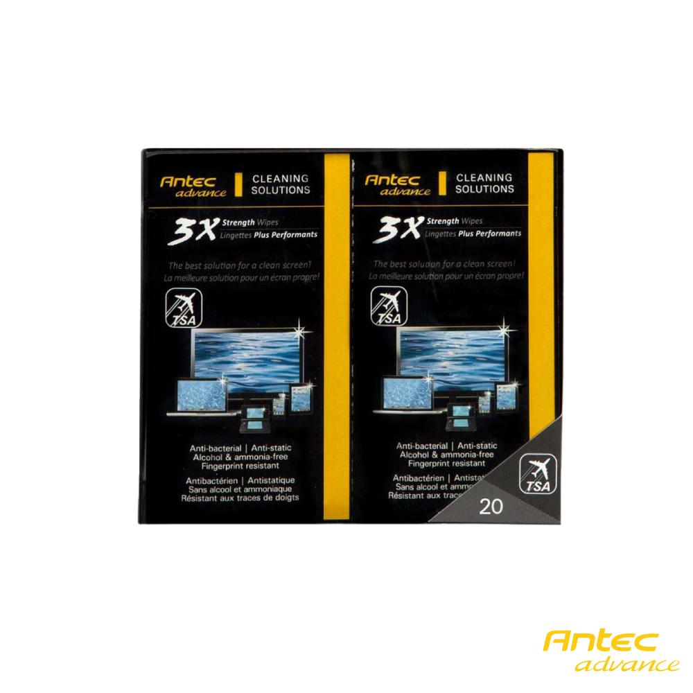 Antec 3X 強效噴霧螢幕清潔濕紙巾 40包 @ Y!購物