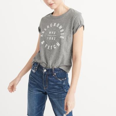 A&F 經典印刷文字短袖T恤(女)-灰色 AF Abercrombie