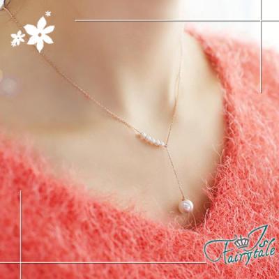 iSFairytale伊飾童話 純白繞頸 珍珠伸縮項鍊