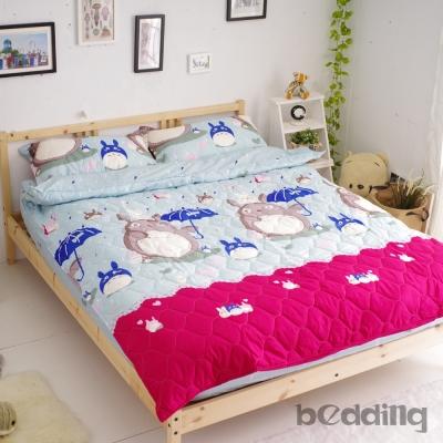 BEDDING   雙人鋪棉床包兩用被套四件組 活性印染 龍貓家族