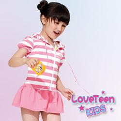 夏之戀 KIDS 小女童連帽外搭裙式罩衫