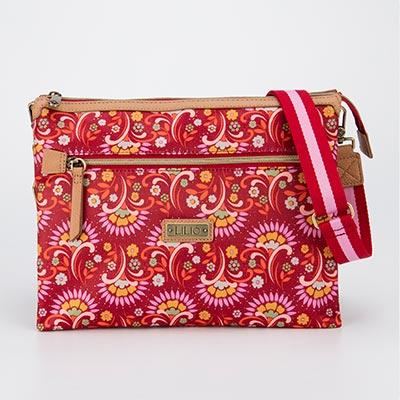 LiliO   側背包   鬱金香復古印花  M Shoulder Bag  Carmine