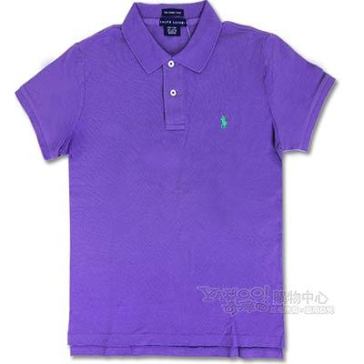 Ralph Lauren 經典LOGO 窄版POLO女衫(靛紫)