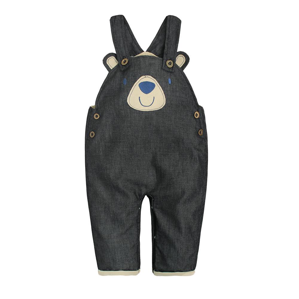 baby童衣 小熊造型牛仔吊帶褲 70017 product image 1